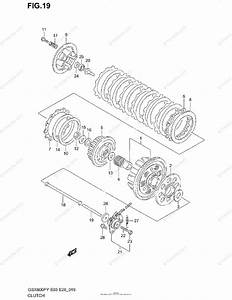 Suzuki Motorcycle 1999 Oem Parts Diagram For Clutch