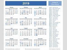 Periods And Federal Pay Calendar 2019 With Holidays