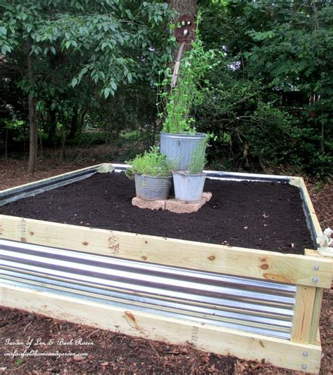 Corrugated Metal Garden Beds by Best 25 Building A Raised Garden Ideas On