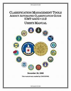 Cia Classification Management Tools Agency Automated