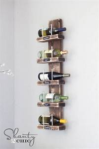 how to build wine racks Wine Rack - DIY - Shanty 2 Chic