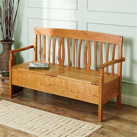 blacker house bench wood magazine