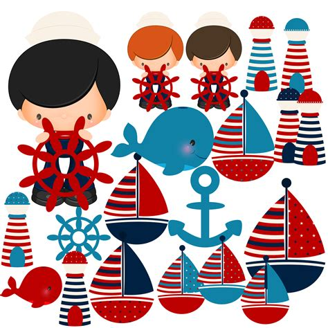 Nautical Baby Boy Clipart Collection