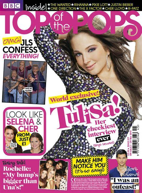 Tulisa In Top Of The Pops Magazine  November 2011