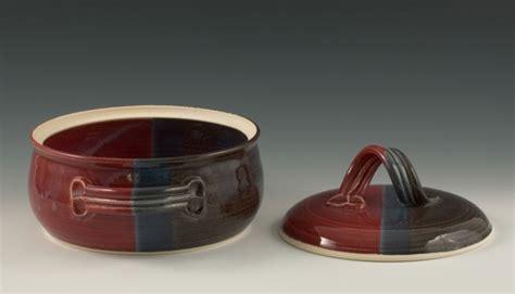 handmade pottery casserole dish bean pot baking dish