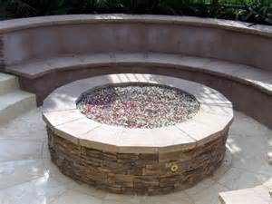 Outdoor Gas Fire Pit with Glass