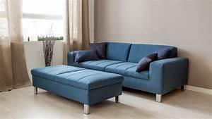 Canape bleu offres exclusives sur westwing for Tapis rouge avec canape bleu marine cuir