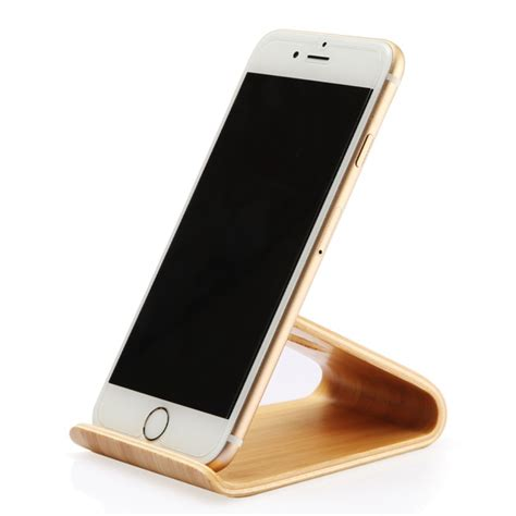 iphone 6 plus desk holder wooden mobile phone holder stand for iphone 6 6s plus 5 5s
