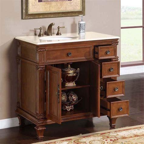 single sink vanity 36 quot silkroad esther single sink cabinet bathroom vanity