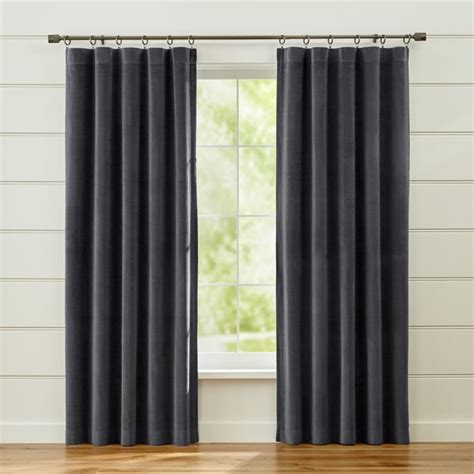 windsor dark grey curtains crate  barrel