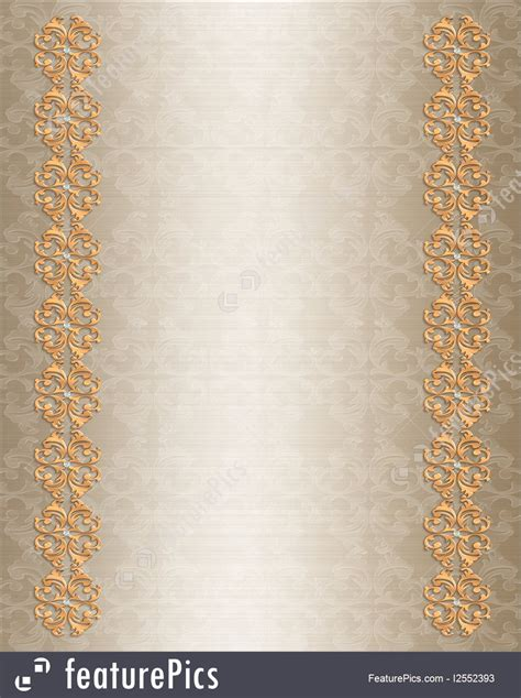 templates wedding invitation border gold stock