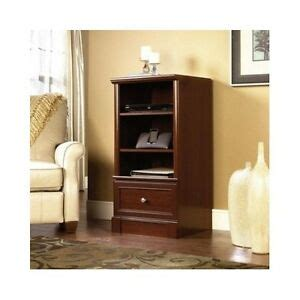 media tower cabinet media tower storage stand cabinet shelf cherry stereo
