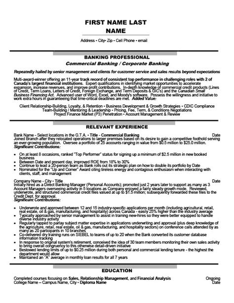 corporate banking resume template commercial banking trainee resume template premium