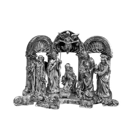 19 towle 174 antique silver plated nativity set 12 piece