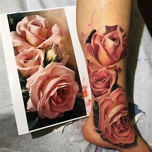 25+ best ideas about Realistic rose tattoo on Pinterest ...