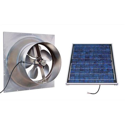 Gable 20 Watt Solar Powered Attic Fan Safg20 Ss The Home
