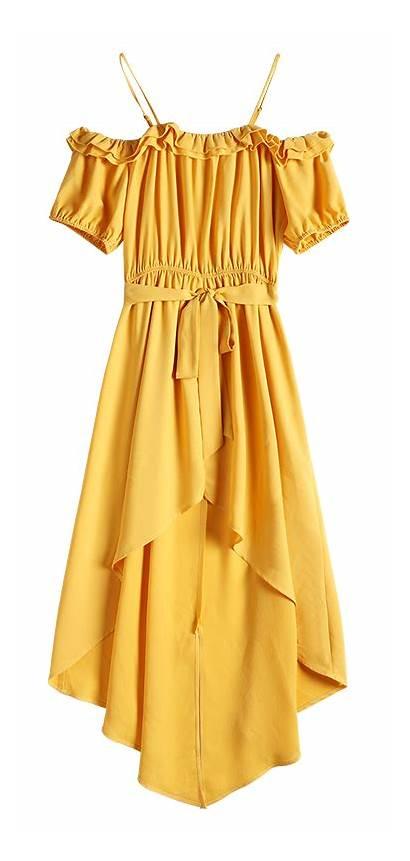 Dresses Casual Ruffles Zaful Short Asymmetric Belted