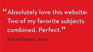 Testimonial Richard Sutton Actor Film And Furniture