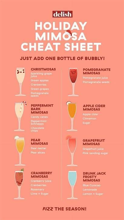 Mimosa Recipes Drinks Holiday Party Sheet Christmas