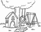 Yard Clipart Clip Drawings Line Backyard Cliparts Library Drawing Houses Flower Simple Colouring Ninja sketch template