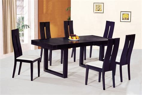 contemporary luxury wooden dinner table  chairs