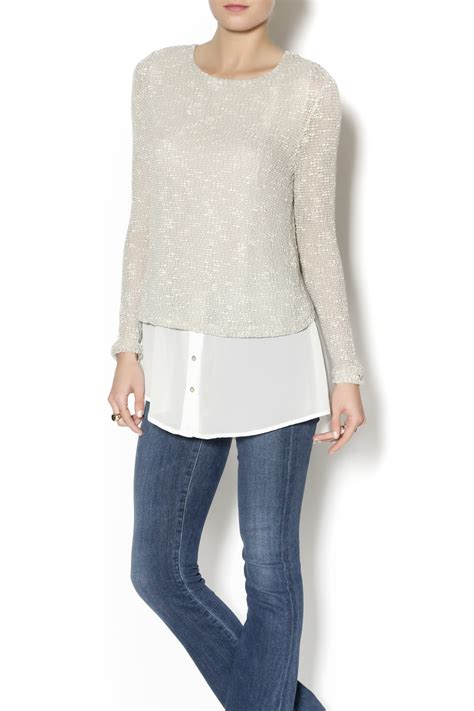 sweater blouse combo honey punch sweater shirt combo from pennsylvania by mad