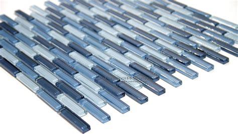 small brick glass mosaic blue tiledaily