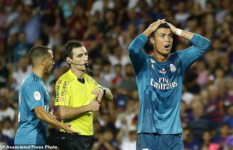Cristiano Ronaldo banned for 5 games after pushing referee ...