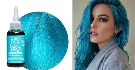 turquoise hair color dye permanent blue dark