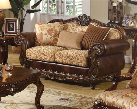 Or Loveseat by Radbourne Traditional Brown Floral Sofa Loveseat In