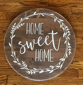 Home, Sweet, Home, Round, Wood, Sign, Farmhouse, Decor, Rustic