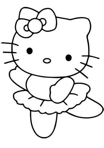 hello pictures to color hello ballerina coloring page free printable