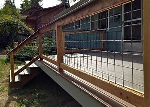 Decoration Hog Panel Deck Railing With Some
