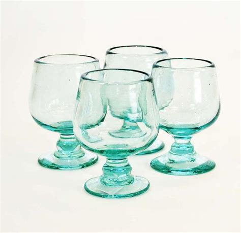 set   brandy shaped tequila sippers  oz clear recycled laredoimportcom