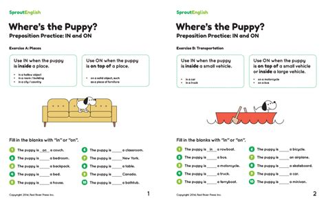 prepositions  place sprout english