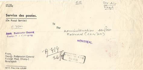 registered letter  mailed   bureau de post