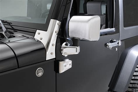 chrome jeep accessories rugged ridge 13311 03 chrome mirror cover kit for 07 18