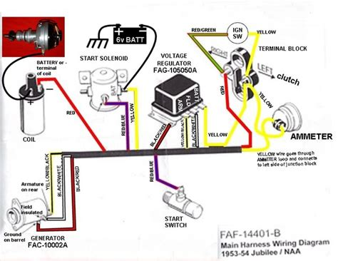 Help With A Jmor Wiring Diagram For Jubilee by 53 Ford Jubilee Wiring Diagram Ford Forum Yesterday S