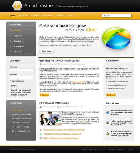 Website Templates 30 High Quality Psd Website Templates That Will Boost Your