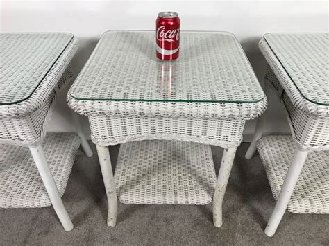 Taste of india ($) indian. Lloyd Flanders Wicker Outdoor Coffee Table And (3) Lloyd Flanders Tables With Glass Tops
