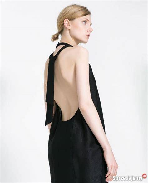 zara nowa sukienka mała czarna 40 l odkryte plecy kobieca