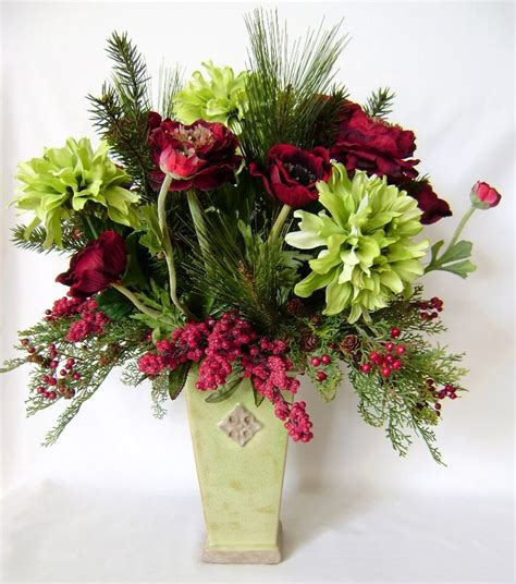 95 best christmas silk flower arrangements images on pinterest