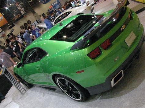 camaro synergy special edition green    black