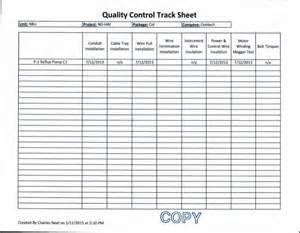 Quality Check Sheet Template 7 12 13 Contech Quality Track Sheet