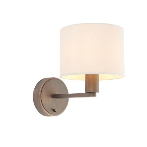 endon lighting daley single light wall fitting in antique