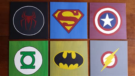 diy wall art for boys superhero logos pinterest inspiration
