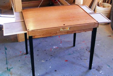 puzzle table with drawers movin on table
