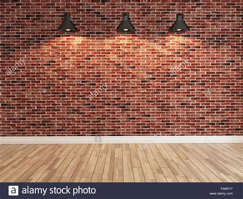 interior brick wall decoration three light