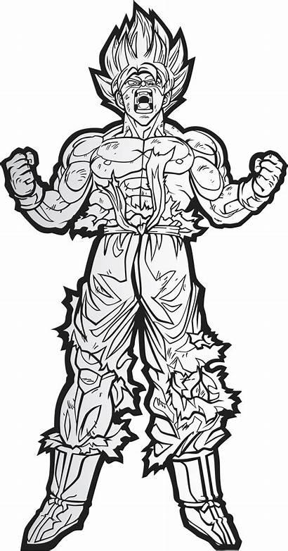 Goku Saiyan Super Drawing Clipart Transparent Clip