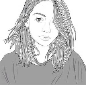Draw Outline Girl Drawings Tumblr